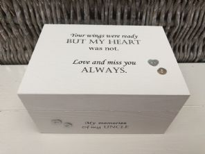 Personalised In Memory Of A Loved One ~ Box ~ UNCLE ~ any Name Bereavement Loss - 253568269429